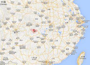Karte Zhangjiajie